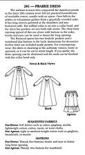 Folkwear Historic 1800s Prairie / Pioneer Dress & Apron Sewing Pattern #201