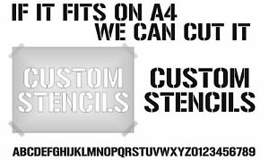 CUSTOM MADE STENCIL PLASTIC TEMPLATES **YOUR WORDS** QUALITY RE-USEABLE FAST