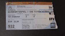 Die Toten Hosen - Auswärtsspiel Kölnarena 11.05.2002 ORIGINAL TICKET!