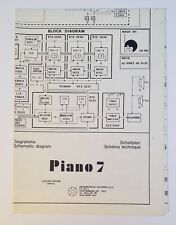 Original Viscount Piano 7 Organ Schematic Diagram Diagramma Schaltplan