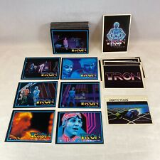 TRON THE ORIGINAL MOVIE (1981) Complete 66 Card Set w/ 8 STICKERS JEFF BRIDGES