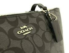 Coach Zip Zop Signature Jacquard Tote Bag - Black Smoke
