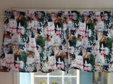 Different Breeds Of KITTY CATS, Handmade Window Curtain VALANCE 42 x 14
