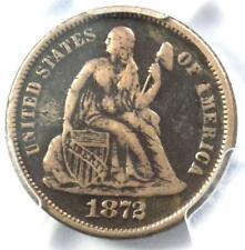 1872-CC Seated Liberty Dime 10C - PCGS Fine Detail - Rare Carson City Date Coin!