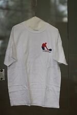 Racquetball Cotton T-shirt by Hanes Heavyweight White Color Mens Size 2Xl