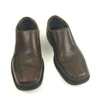 Clarks Deane Loafers Shoes Sz 8.5M Brown Leather Slip On Bicycle Toes Career Men