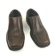 Clarks Deane Mens Shoes Sz 8.5M Brown Leather Slip On Loafers Bicycle Toes 71734