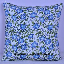 16'' Indian Bohemian Cushion Cover Pillow Case Quilted Work Throw Decorative Art