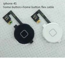 black white color Home button Flex cable assembly for iPhone 4 4S