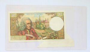 rarissime billet 10 francs Voltaire 4-1-1973 avec surcharge de papier