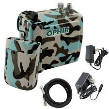 OPHIR NEW Mini Air Compressor Battery Airbrush Set for Cake Tattoo Makeup Nail