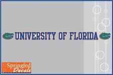 Florida Gators UNIVERSITY OF FLORIDA STRIP Vinyl Decal #1 UF Window Sticker