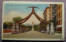 EAGLE GATE, SALT LAKE CITY, UTAH POSTCARD 1942