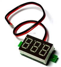Super Mini Blue LED DC 3.2-30V Low Consumption Digital Volt Meter No Need Power