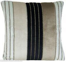 Velvet Cushion Cover Designers Guild Striped Pillow Case Napoli Natural Black