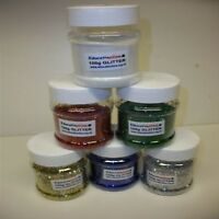 100g  x 6 ASSORTED COLOUR  GLITTER SHAKERS  DUST FREE