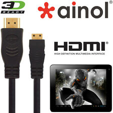 Ainol Novo 7, 10, Venus, Spark, fuego Tablet HDMI Mini a HDMI TV Cable de plomo 5m