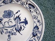 "Blue Onion 3 Bread Dessert Plates Blue White Underglaze 6.5"""