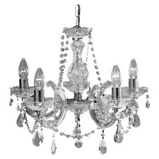 'Marco Tielle' Marie Therese Five Light Chandeliers - Chrome Brass Mink