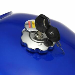 9L 2.4 Gallon Motorcycle Cafe Racer Fuel Gas Tank with Petrol Cap Key For Honda