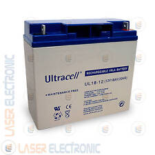 Batteria Ricaricabile AGM Ermetica Sigillata 12V 18A 18AH Ultracell UK UL18-12