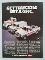 1977 General Motors GMC Trucks Vans Pickups Diesels Vintage Magazine Print Ad