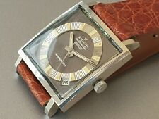 Zenith Respirator Automatic square oversize perfect 80s original Dial stainless