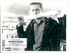 IN COLD BLOOD SCOTT WILSON BRITISH LOBBY CARD RARE WITH DUCT TAPE