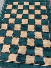 QUALITY MODERN RUG  160x230 Square Check PATTERN BEiGE/GREEN