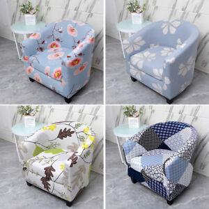 Club Chair Slipcovers Arm Chair Cover Bar Tub Barrel Seat Covers Decor Floral