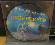 """Vintage DEEP PURPLE """"Live"""" picture disc LP w/ David Coverdale & Glenn Hughes"""