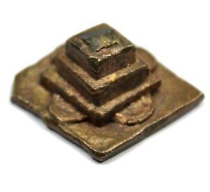 Art Africain - Poids Goldweight Akan en forme de Pyramide Complexe - 2,8 Cms +++