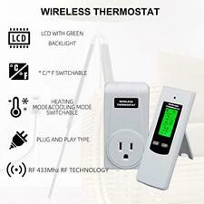 Wireless Programmable Thermostat Outlet Heating & Cooling Plug in Thermostat