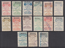 Argentina, Santa Fé, Forbin 259A/280A used 1908 General Tax Fiscals, 15 Talon