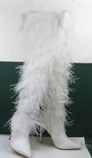 "new ladies white 5""Stiletto high heel pointy toe Sexy over knee Boot Size  11"