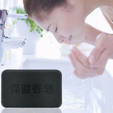 Black Bamboo Charcoal Soap Face Body Clear Anti Bacterial Tourmaline Soap