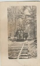 RPPC~RAILROAD LOGGING CAR SCENE~REAL PHOTO POSTCARD