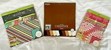 Colorbok Lot of 3 Scrapbook Paper Pads-Maxi-Neutral-Hopscotch-New-12x12-8.5x11