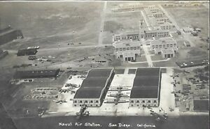 Vintage Naval Postcard, Naval Air Station, San Diego