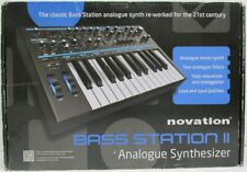Novation Bass Station II Analogue Synthesizer and AC Adapter in Original Box