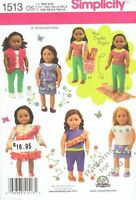 "Pattern Simplicity Sewing 18"" inch Doll Clothes Summer 2014 Crop Top Capris New"
