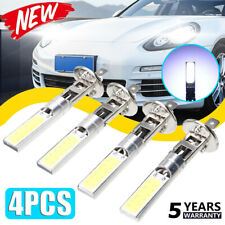 4x Car H1 COB LED Headlight Hi/Lo Beam DRL Driving Light Lamp Bulb White 6000K@