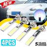 4x Car H1 COB LED Headlight Hi/Lo Beam DRL Driving Light Lamp Bulb White 6000K@
