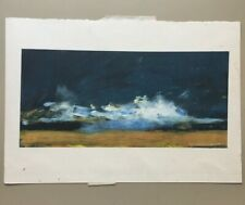 Margaret Knott Test Landscape Screenprint. Signed. Not Numbered. 14 X 20 Inches