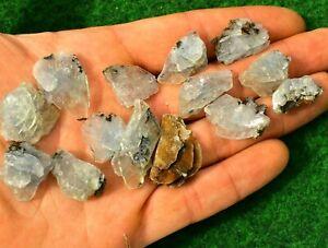 1 Blue Barite Baryte Crystal Mineral Gem 3-5g Natural PalmStone Quartz UKSeller✔