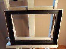 Caisse américaine noir mat et placage chêne brossé ,profil L , 46 x 33 cm 8P
