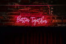 Better Together Wedding Glass Decor Neon Sign Acrylic Light Open Bar With Dimmer