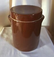 "French salt glazed crock from Gres de Bonny sur Loire #5 or 9"" h. Mark France."