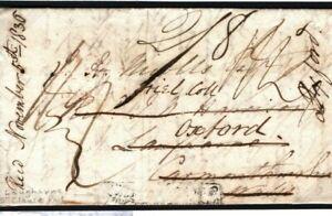 CANADA TRANSATLANTIC Cover *SHIP LETTER/DOVER* Oxford Wales Laugharne 1836 H136