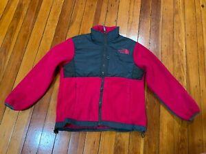 The North Face Kids Boy's Pink Full Zip Fleece Denali Jacket Size L 14/16